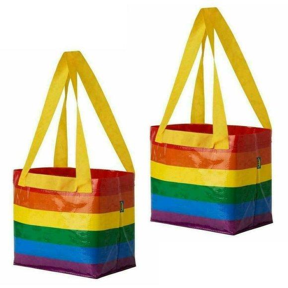 IKEA STORSTOMMA Rainbow Shopping Bag Tote Ltd Ed